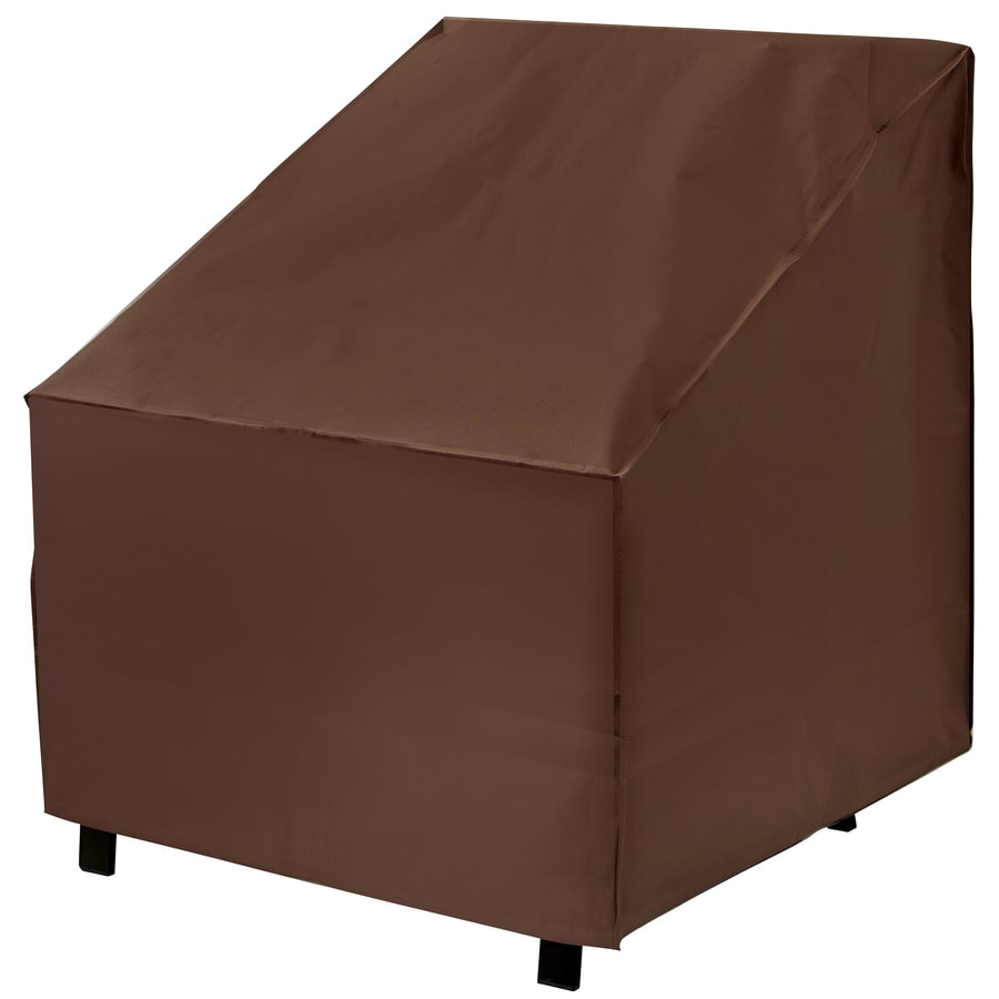 chair covers for garden furniture card table and chairs cosco patio at lowes com elemental dark brown premium polyester conversation cover