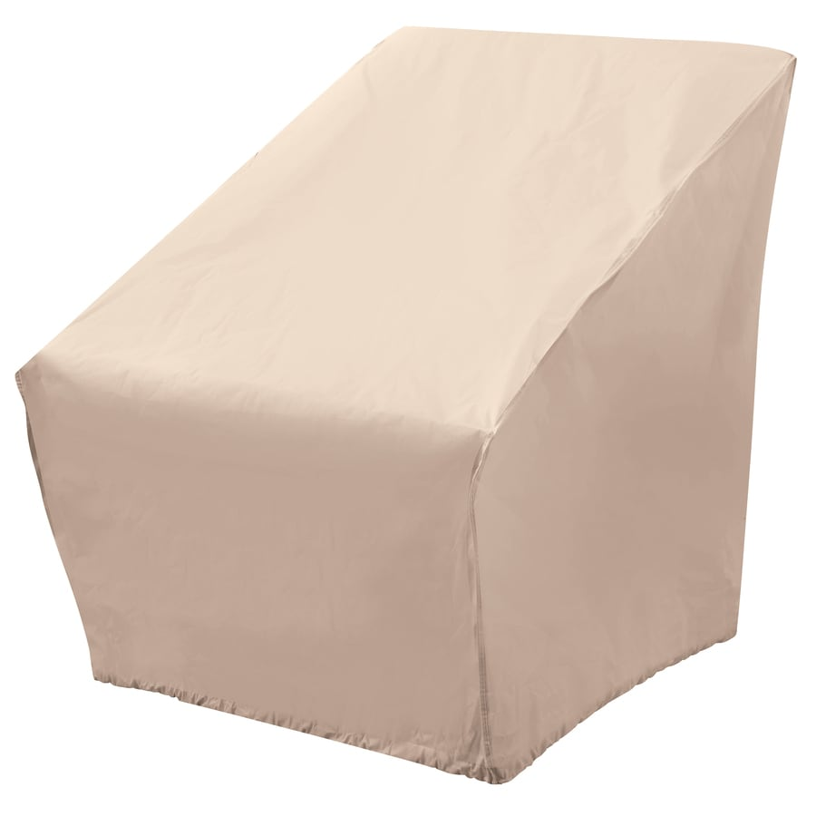 chair covers for garden furniture task without arms patio at lowes com elemental tan polyester conversation cover