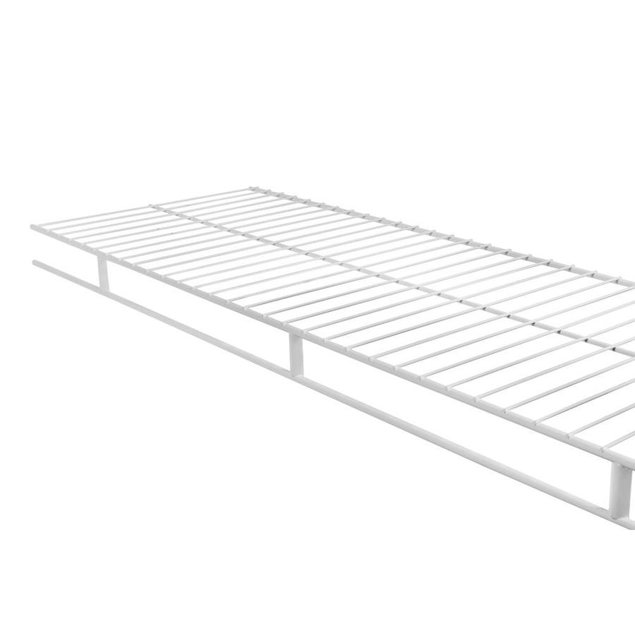 Shop Rubbermaid Wardrobe 6-ft L x 12-in D White Wire Shelf