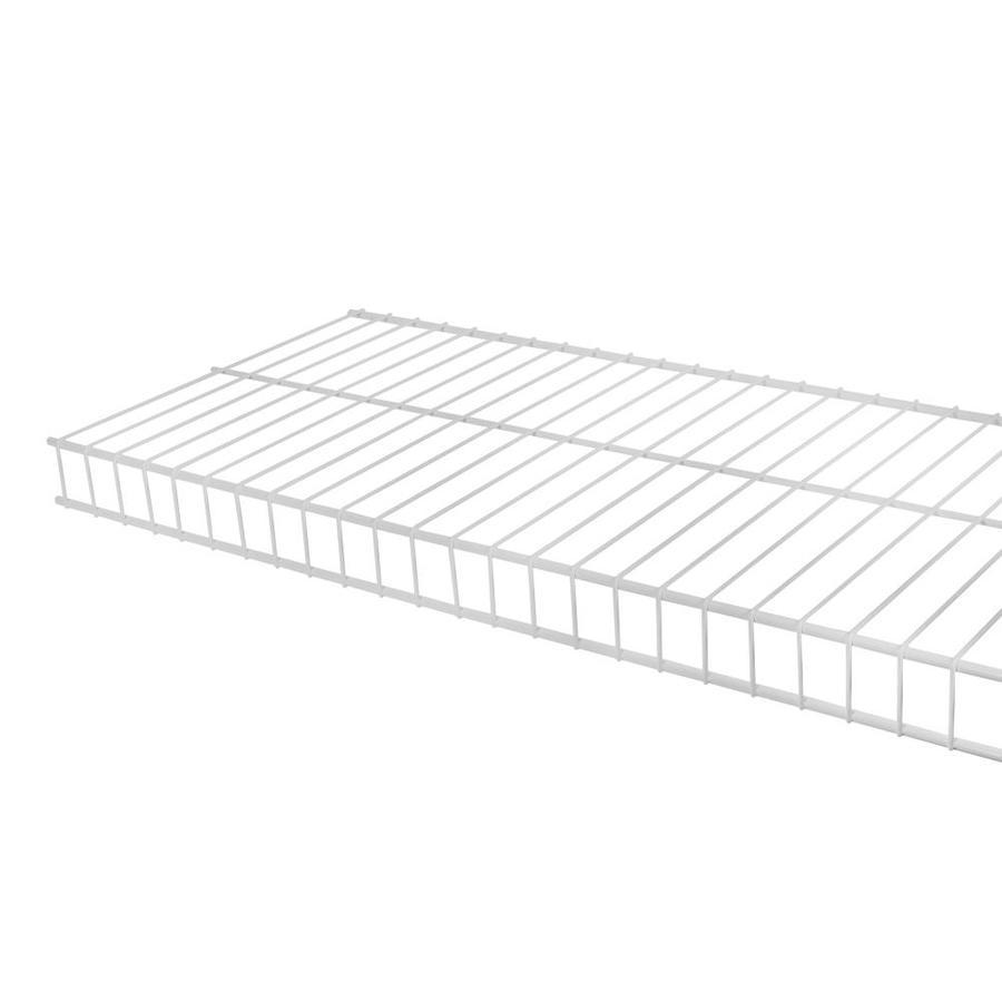 Shop Rubbermaid Linen 8-ft L x 12-in D White Wire Shelf at