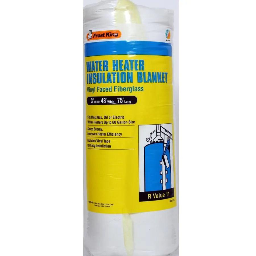 medium resolution of frost king universal plastic water heater insulation blanket