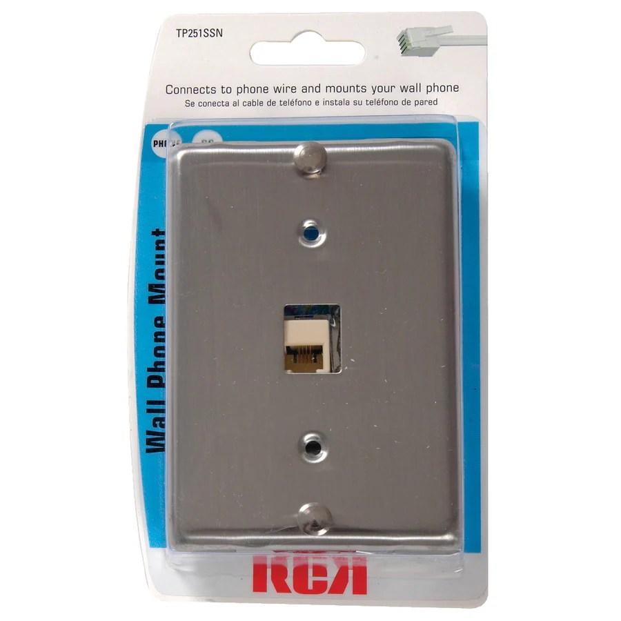 hight resolution of rca modular wall phone mount