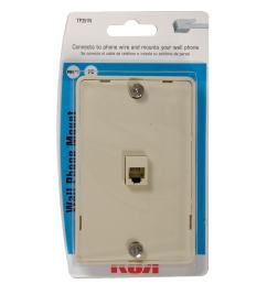 rca plastic 4 wire phone mount wall jack [ 900 x 900 Pixel ]