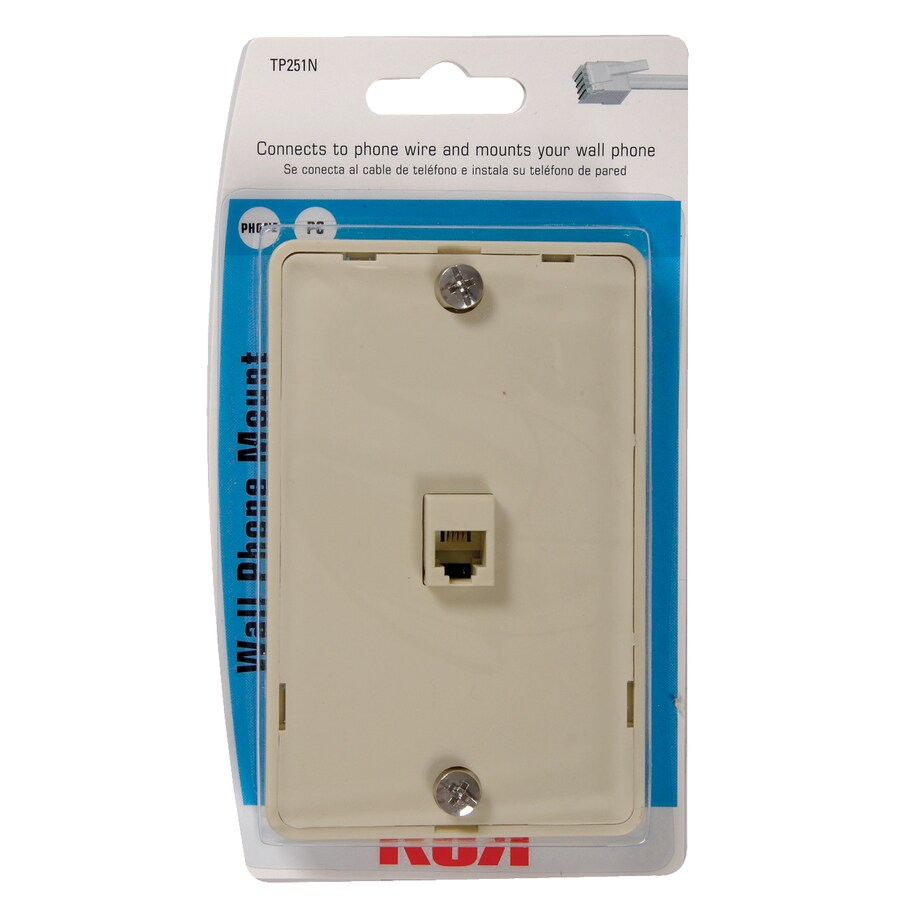 medium resolution of rca plastic 4 wire phone mount wall jack