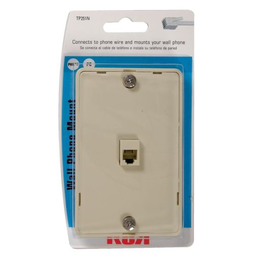 small resolution of rca plastic 4 wire phone mount wall jack