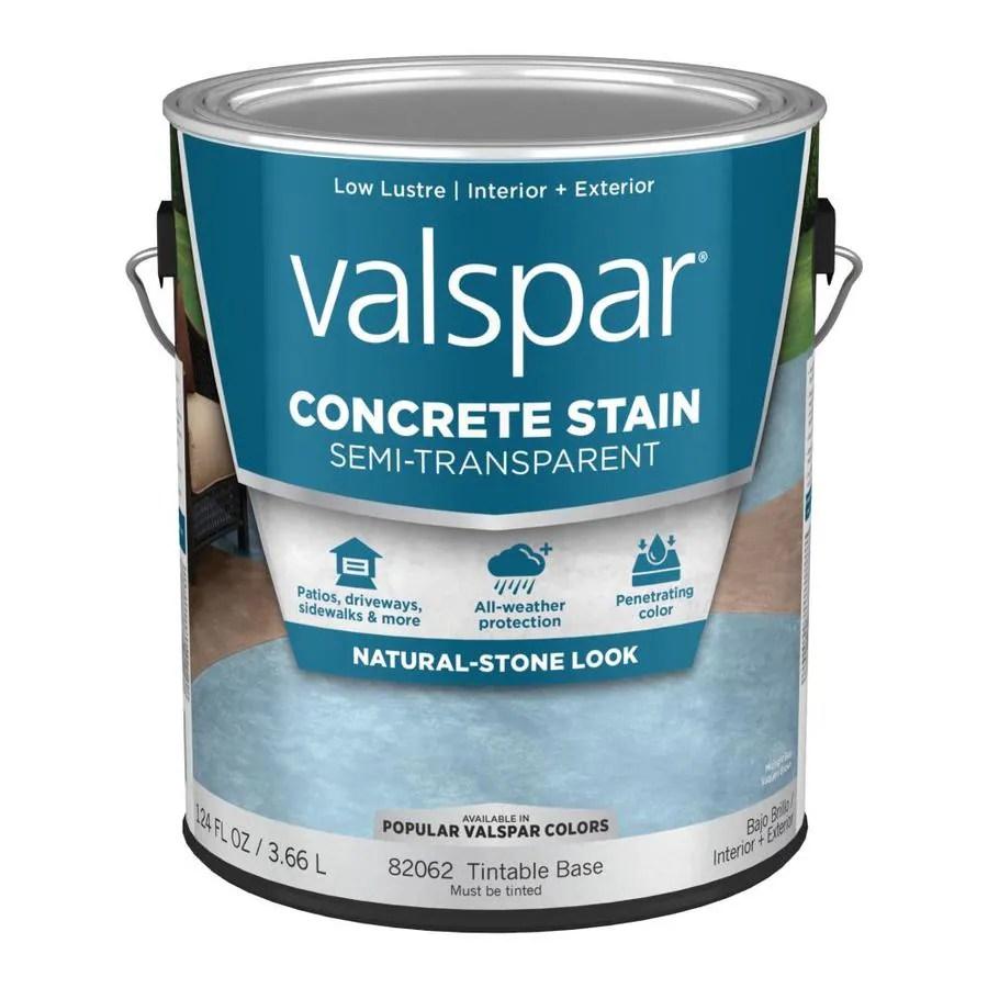 Concrete Transparent Semi Valspar Stain