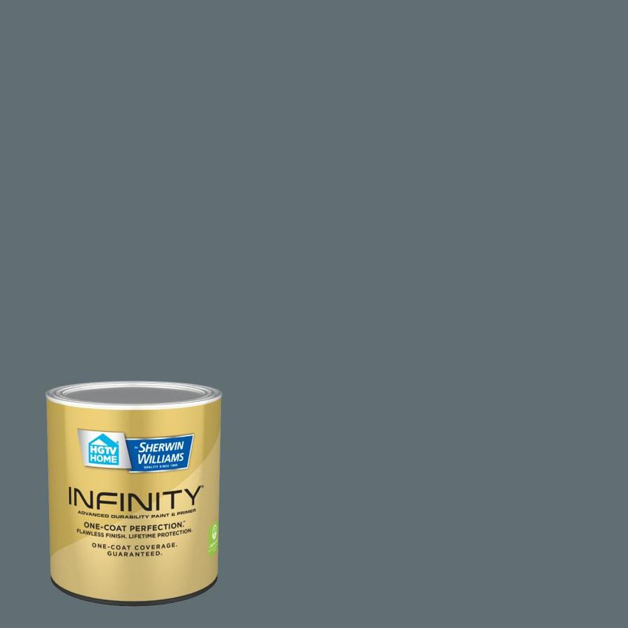 hgtv home by sherwin williams infinity eggshell slate tile hgsw1472 interior paint 1 quart