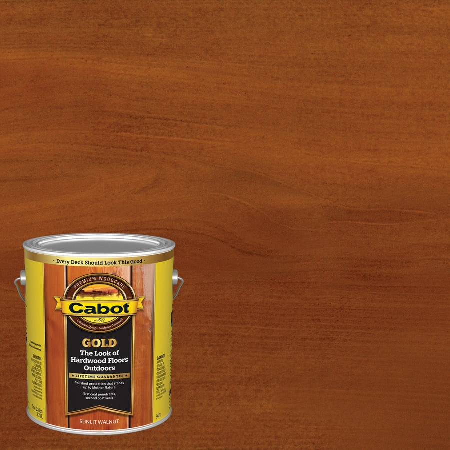 Shop Cabot Gold Sunlit Walnut Transparent Exterior Stain