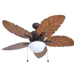 harbor breeze waveport 52 in weathered bronze indoor outdoor ceiling fan with light kit [ 900 x 900 Pixel ]