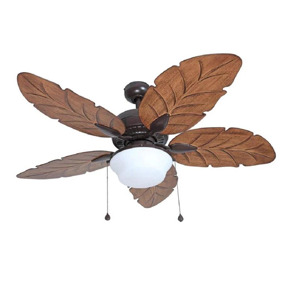 hight resolution of harbor breeze waveport 52 in weathered bronze indoor outdoor ceiling fan with light kit