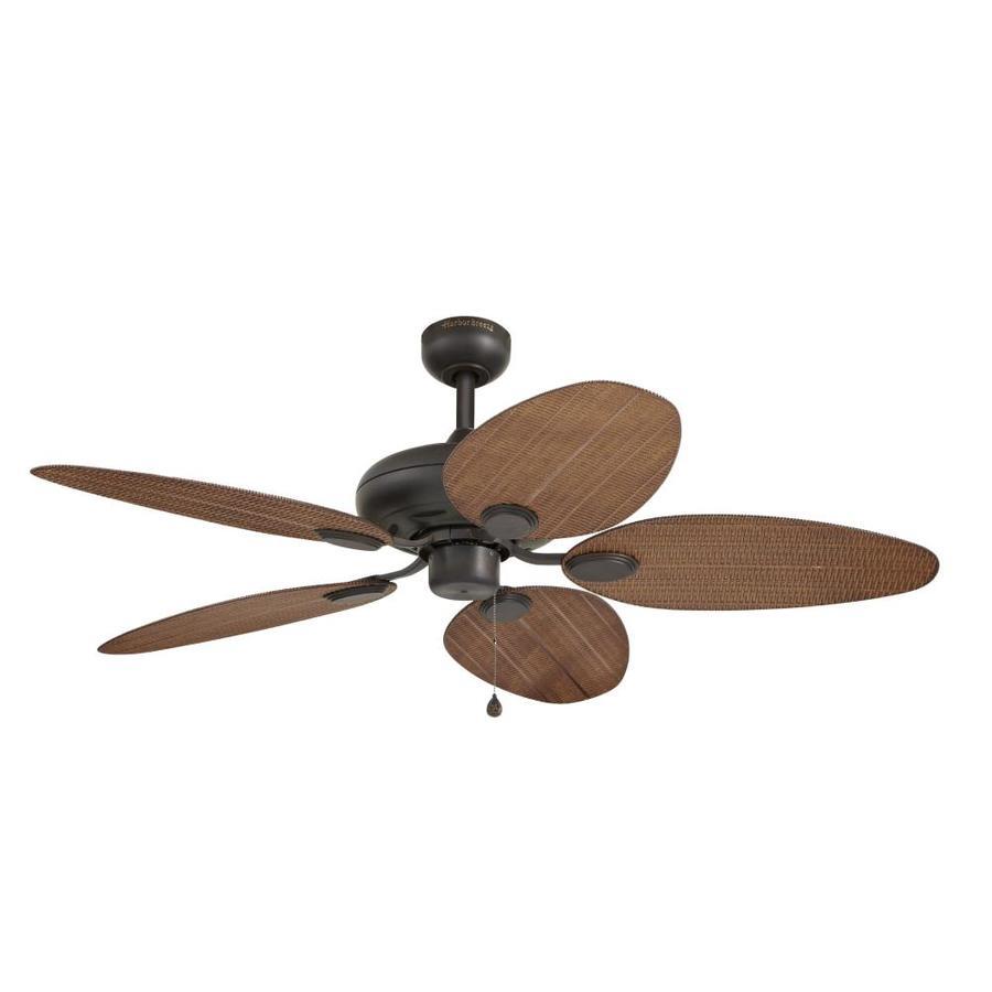 medium resolution of harbor breeze tilghman 52 in bronze indoor outdoor ceiling fan 5 blade
