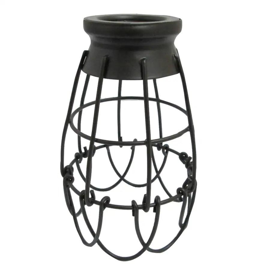 medium resolution of portfolio 7 25 in h 4 62 in w french bronze wire industrial cage pendant light
