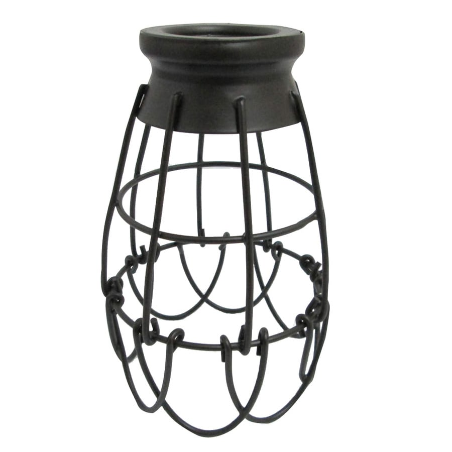 hight resolution of portfolio 7 25 in h 4 62 in w french bronze wire industrial cage pendant light