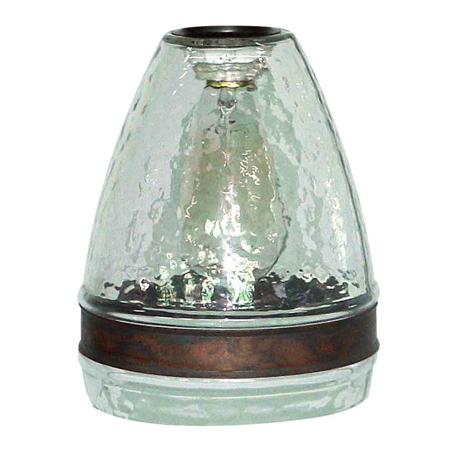 medium resolution of portfolio 7 5 in h 6 in w clear textured glass bell pendant light shade