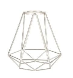 portfolio 6 in h 6 in w brushed nickel wire industrial geometric vanity light [ 900 x 900 Pixel ]