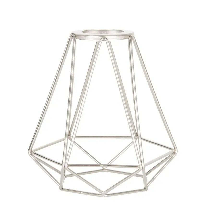 hight resolution of portfolio 6 in h 6 in w brushed nickel wire industrial geometric vanity light