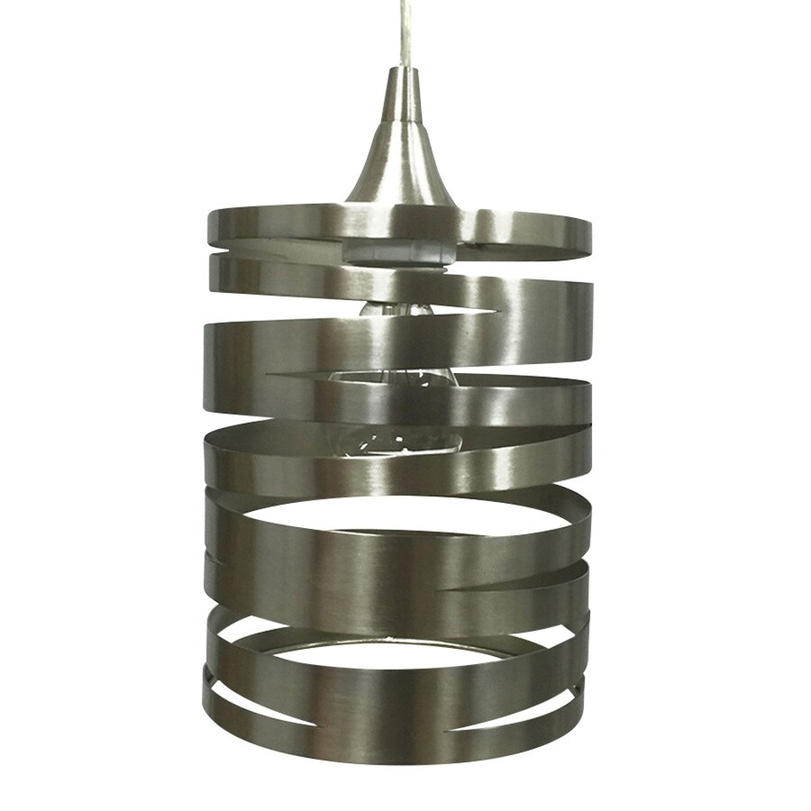 hight resolution of portfolio 7 5 in h 6 in w brushed nickel cylinder pendant light shade