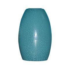Teal Kitchen Appliances Cheap Remodel Shop Portfolio 7.25-in H 4.75-in W Blue Crackle Pendant ...