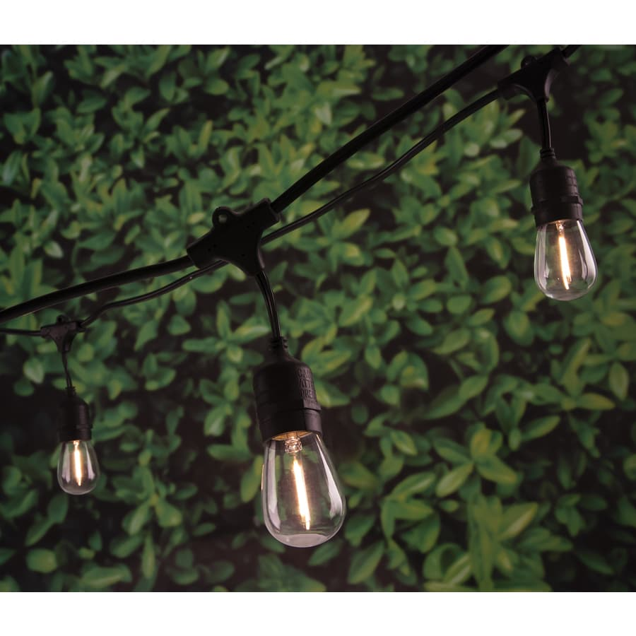 Portfolio 24-ft 12-Light White LED Plug-in Bulbs String