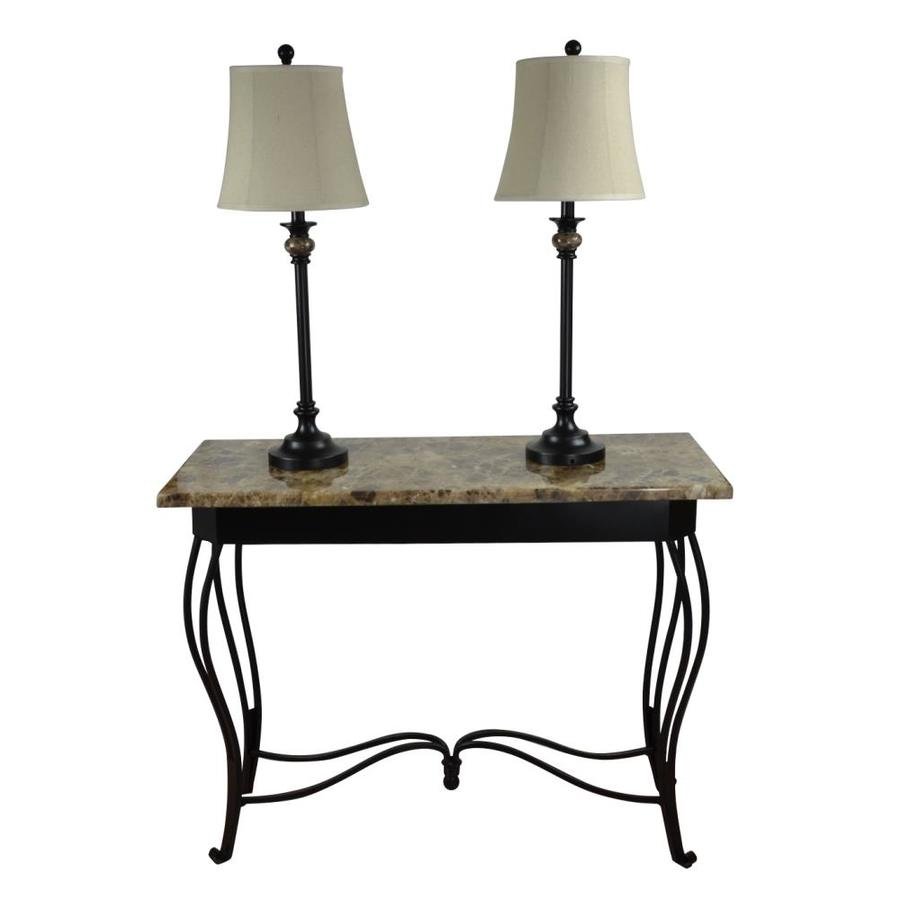 lamps sofa table 250 portfolio barada 3 piece lamp set with bronze shades at lowes com