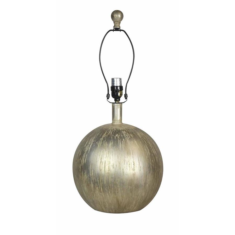 allen roth 17 in silver leaf plug in mixed material lamp base