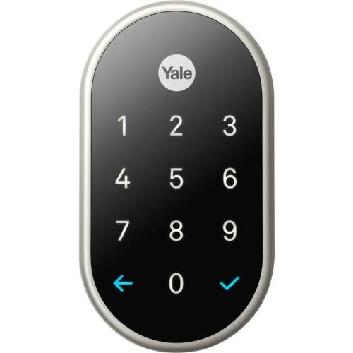 small resolution of yale nest x lock with nest connect satin nickel single cylinder deadbolt 1 cylinder lighted keypad