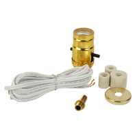 Shop Portfolio 250-Watt Gold Lamp Socket at Lowes.com