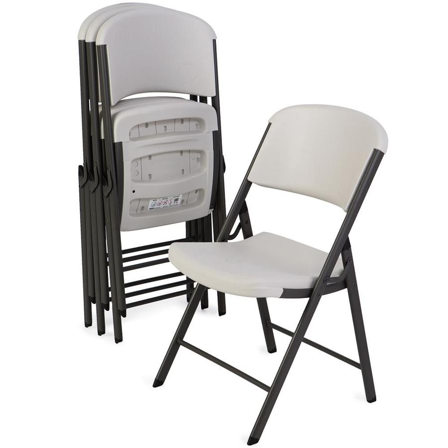 Lifetime Chair Lifetime Products 4 Pack Indoor Outdoor Steel Almond Standard