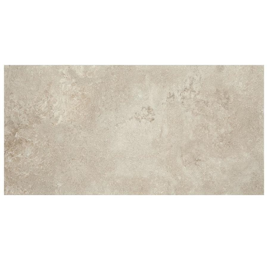 american olean tranquil stone warm gray 12 in x 24 in glazed porcelain stone look floor and wall tile