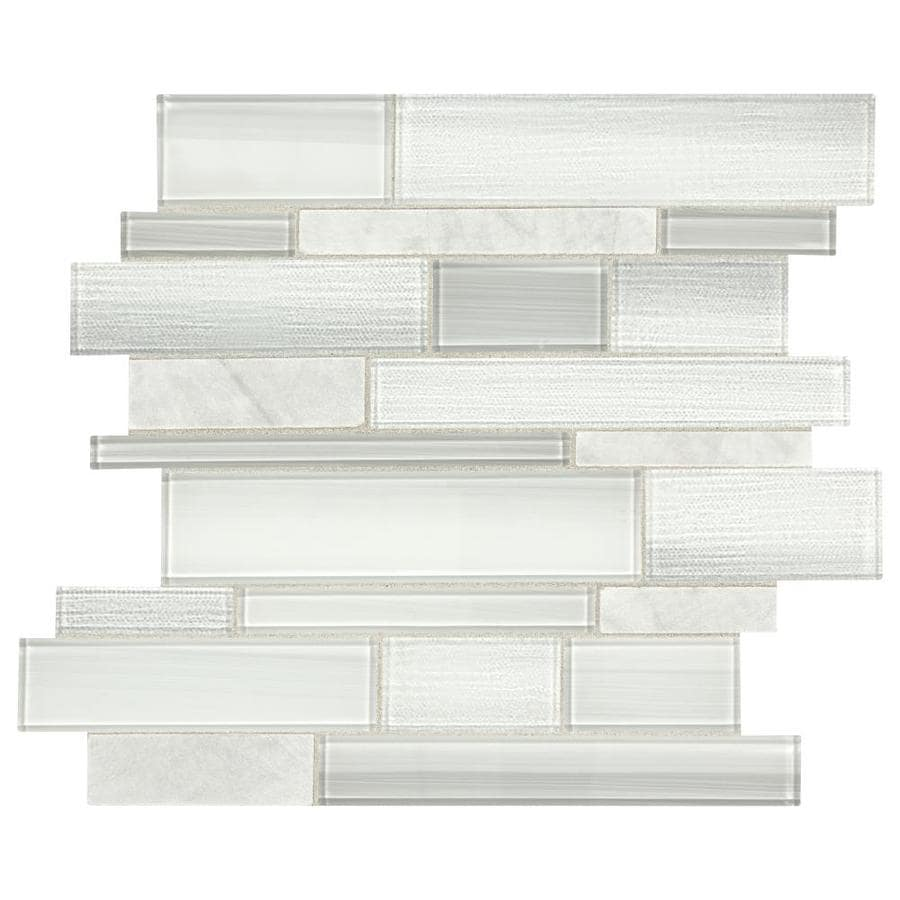 american olean cole point cloud white 12 in x 14 in polished natural stone linear wall tile