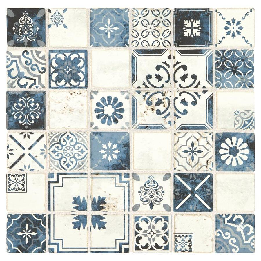 american olean genuine stone moroccan blue 12 in x 12 in glazed natural stone travertine uniform squares stone look wall tile