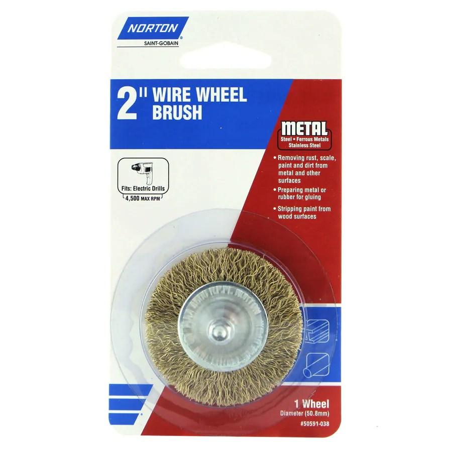 Shop Norton 2 In Wire Brush Wheel At