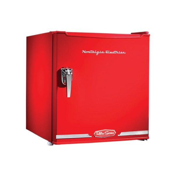 Nostalgia Electrics Retro 1.7-cu Ft Compact Refrigerator With Freezer Compartment Red