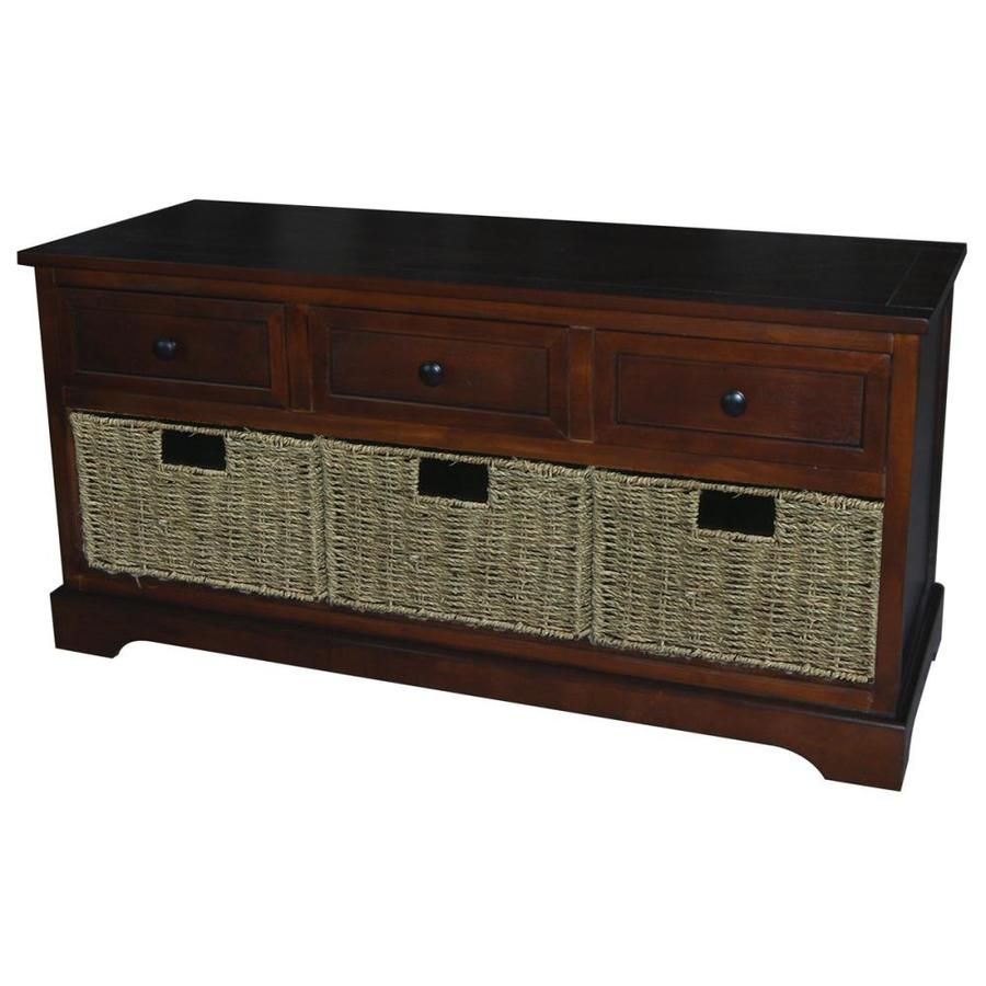 Shop Casual Mahogany Storage Bench At