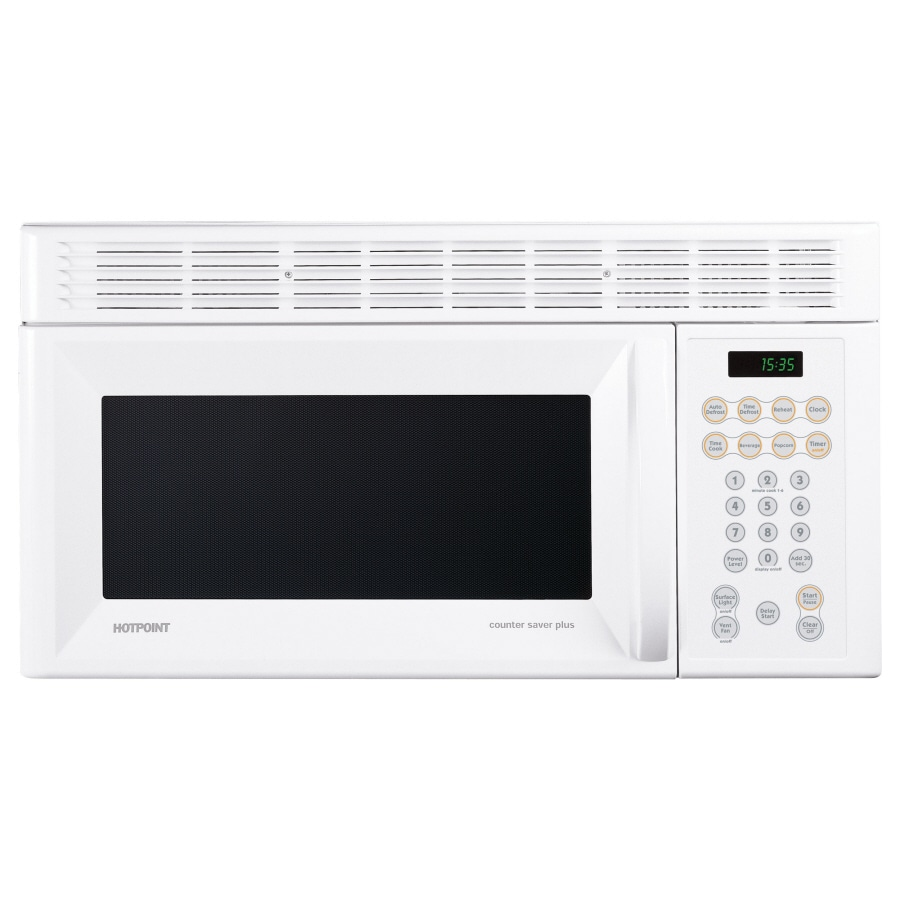 hotpoint 30 in 1 5 cu ft over the range microwave white
