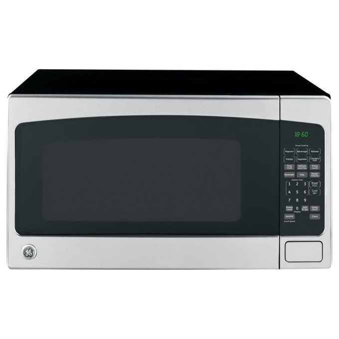 GE 2-cu ft 1,200-Watt Countertop Microwave (Stainless Steel)