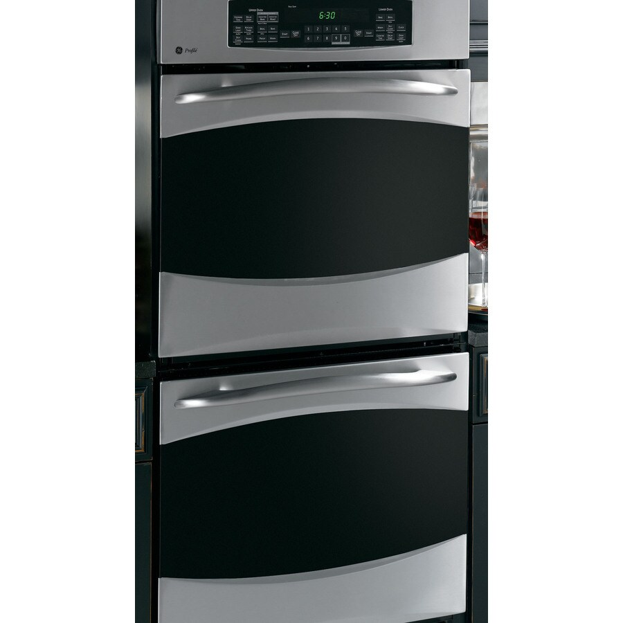 hight resolution of ge profile 27 in self cleaning convection double electric wall oven stainless steel