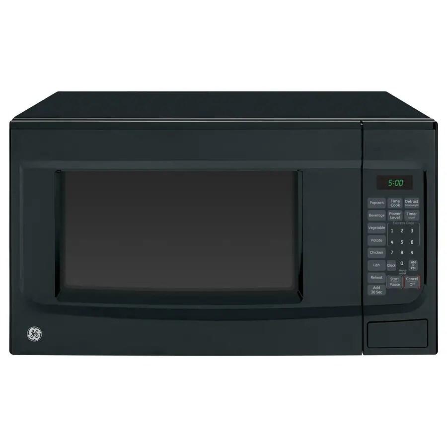 ge 1 4 cu ft 1100 watt countertop microwave black