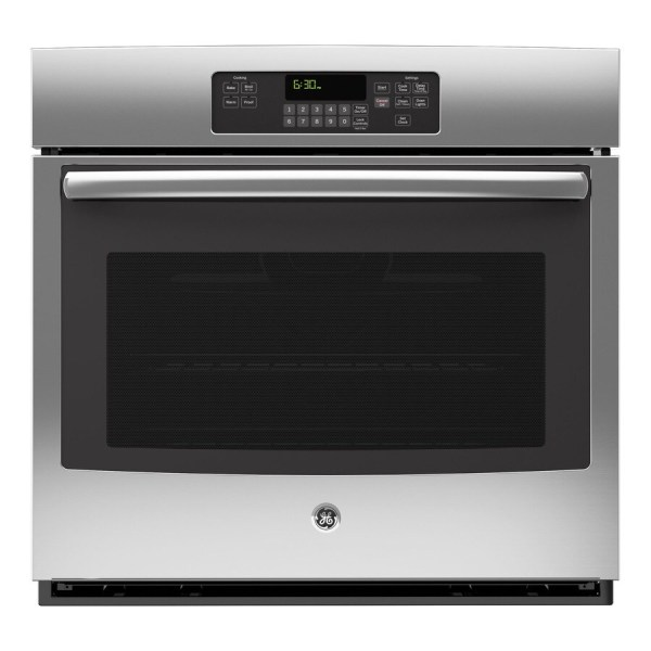 Ge -cleaning With Steam Single Electric Wall Oven Stainless Steel Common 30-in