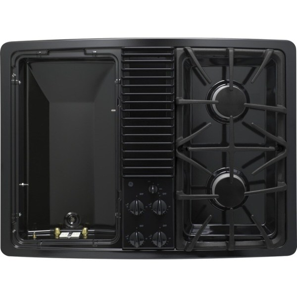 GE Profile Gas Cooktop with Downdraft