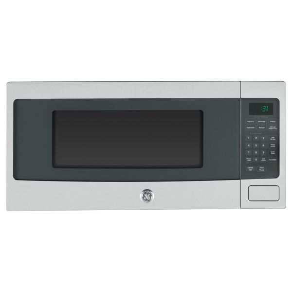 Ge Profile 1.1-cu Ft 800-watt Countertop Microwave Stainless Steel