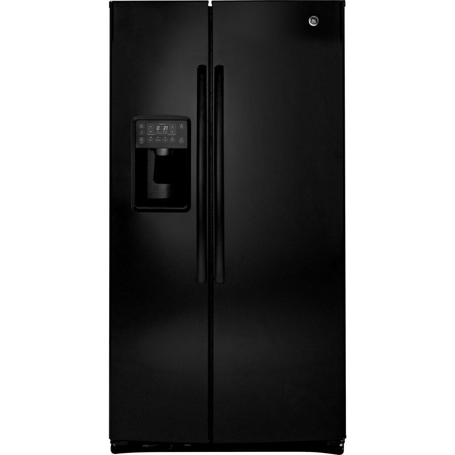 Shop GE Profile 254 Cu Ft Side By Side Refrigerator With Single Ice Maker Black ENERGY STAR