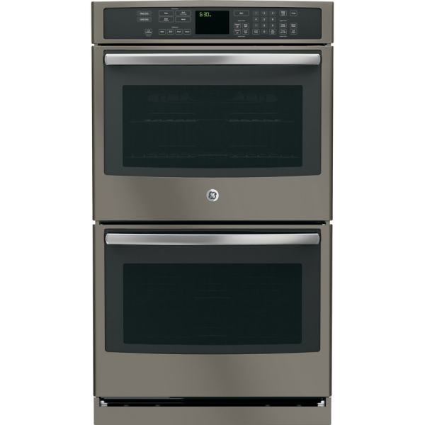 Ge Profile Series -cleaning Convection Double Electric Wall Oven Slate Common 30-in