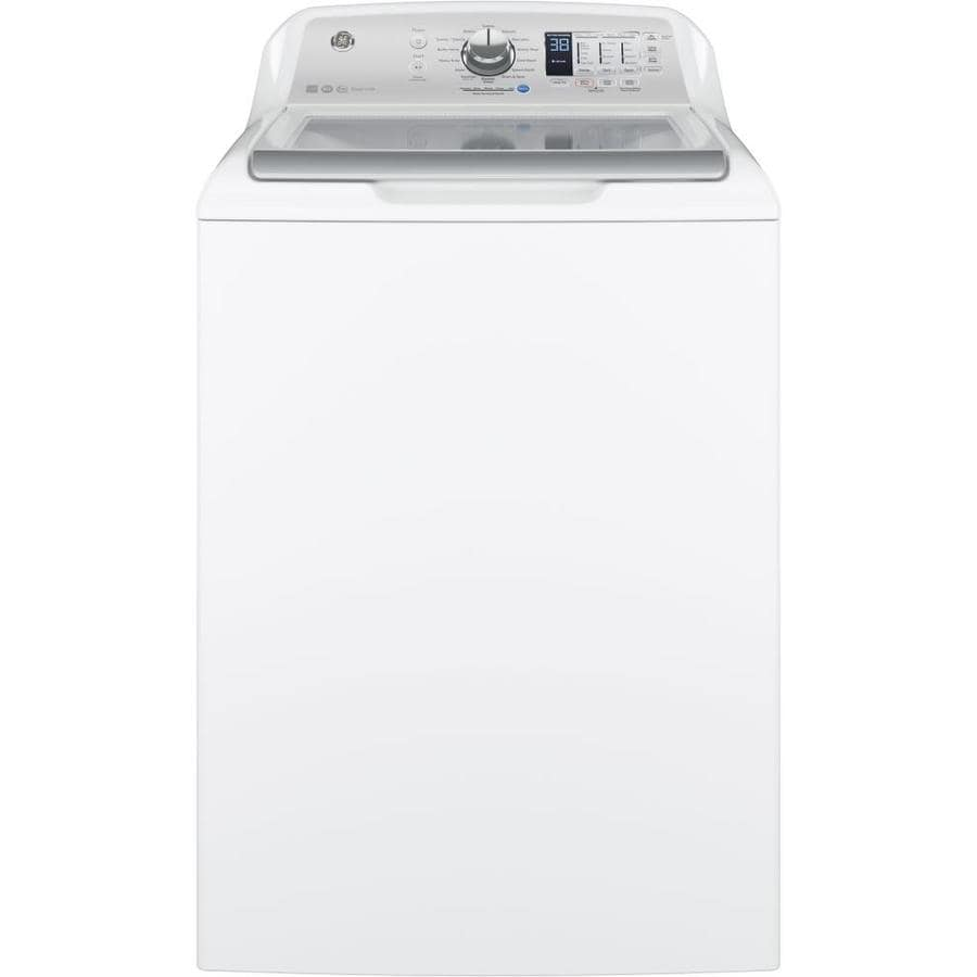 medium resolution of ge 4 6 cu ft high efficiency top load washer white energy star