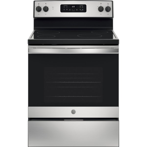 GE Electric Stove Stainless Steel