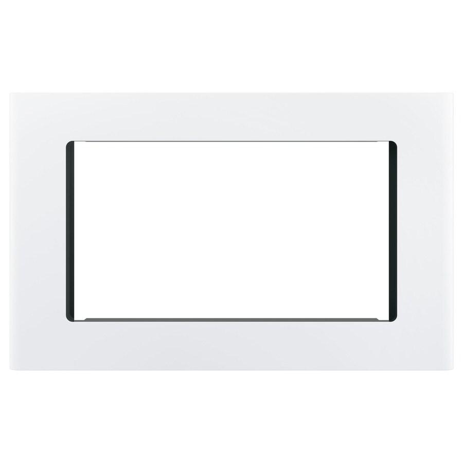 ge profile built in microwave trim kit white