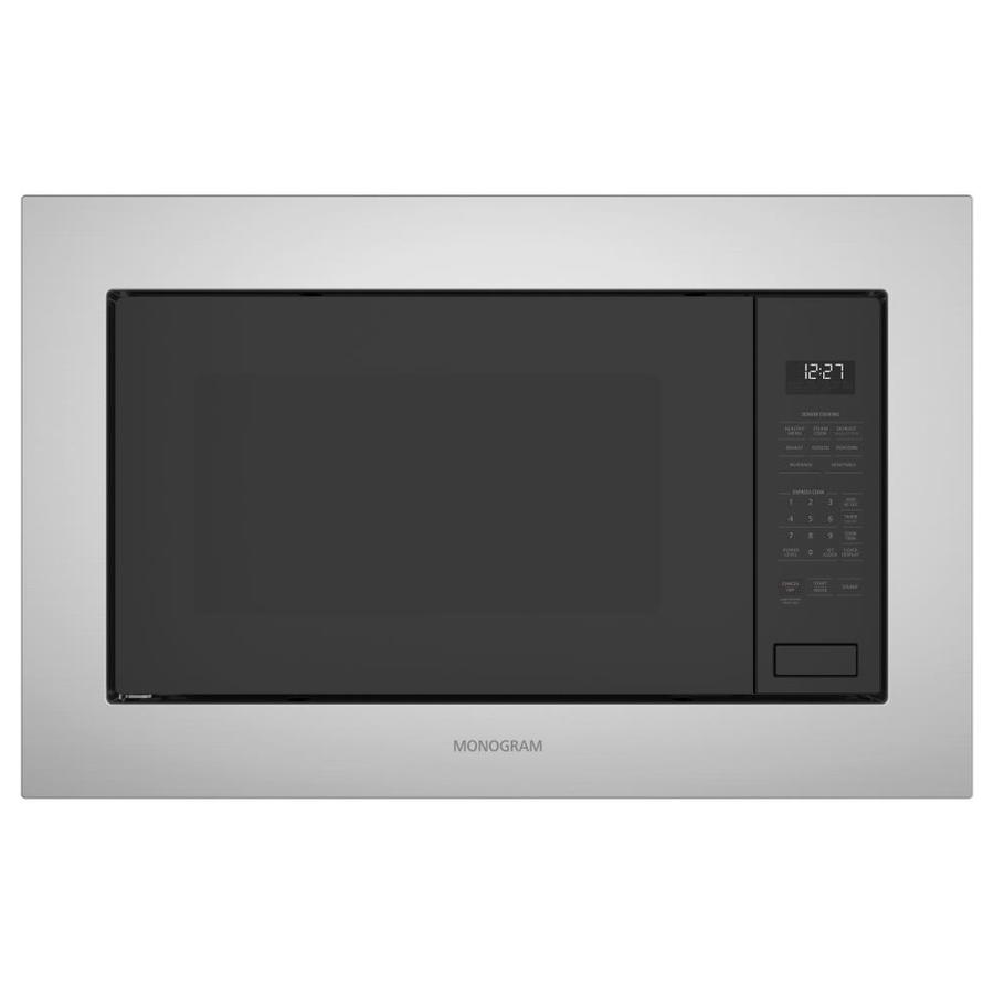 monogram 2 2 cu ft built in microwave with sensor cooking controls stainless steel