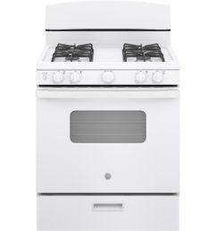 ge freestanding 4 8 manual cleaning gas range white actual 30  [ 900 x 900 Pixel ]