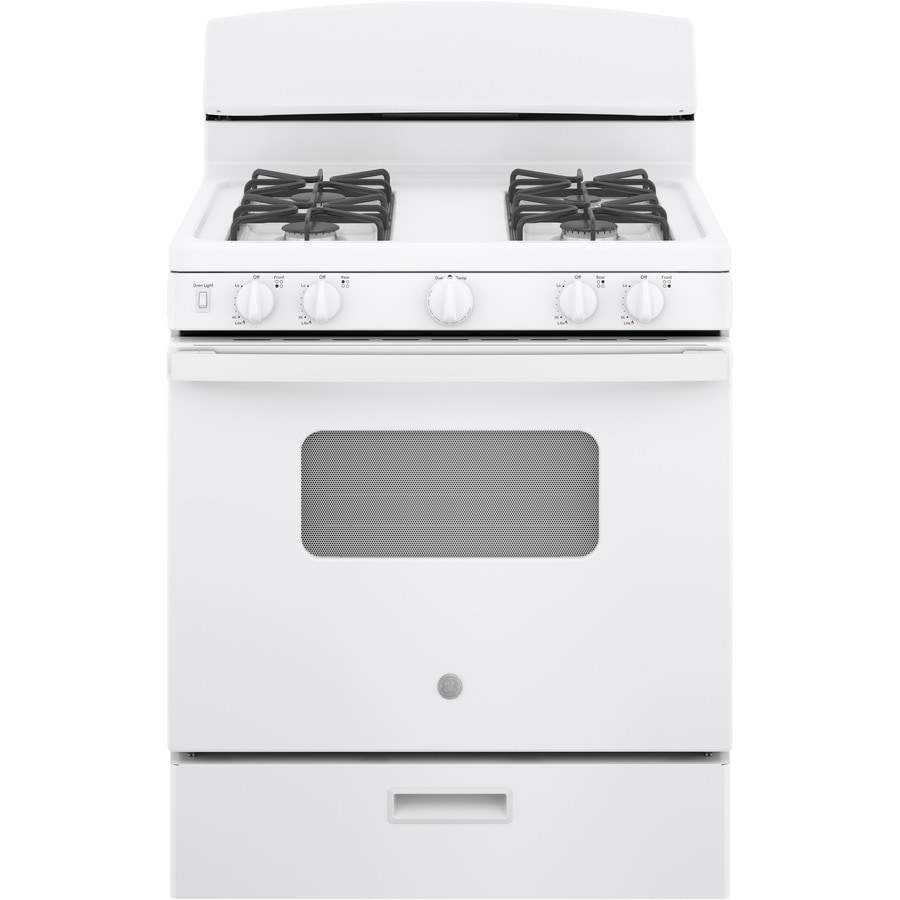 medium resolution of ge freestanding 4 8 manual cleaning gas range white actual 30