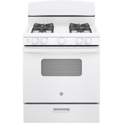 small resolution of ge freestanding 4 8 manual cleaning gas range white actual 30
